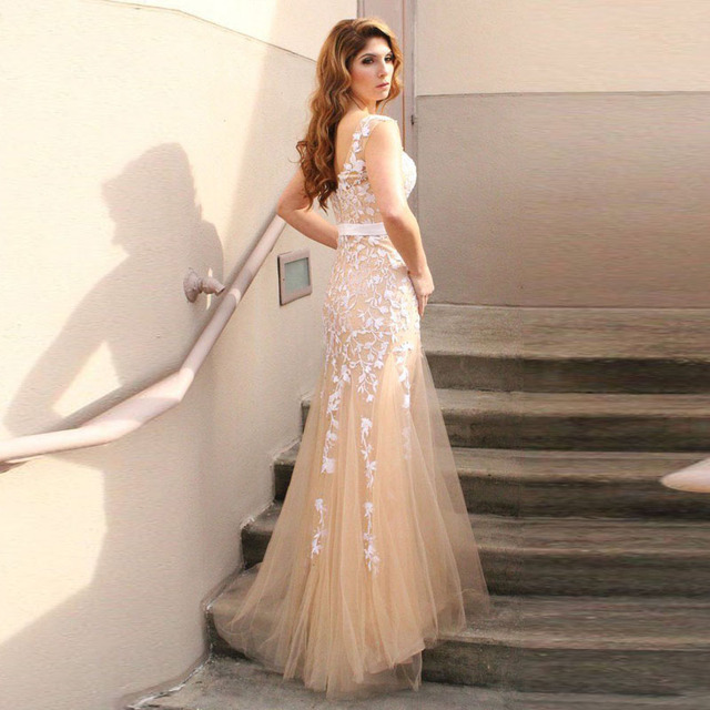 2018 New Fishtail Appliques Ball Gowns Sleeveless Dresses Long ...