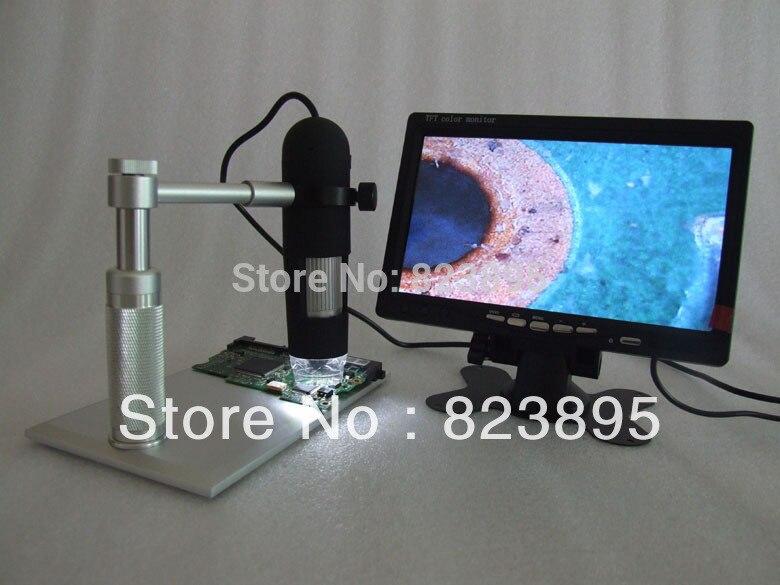 ФОТО Hot Selling aluminium alloy bracket  AV 800X HD digtal microscope ,AV handheld endoscope camera,adapt  to TV ,LCD monitor