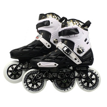 Professional Adult Roller Skating Shoes 3*110mm Changeable Slalom Speed Patines Free Racing Skates for SEBA Powerslide User F040 3x110mm slalom convert to inline speed skates frame with 11 25 3 layers 110mm wheels racing patines basin base 150mm to 180mm