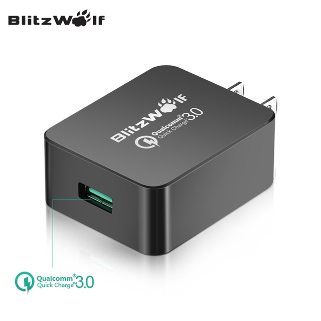 BlitzWolf QC3.0 USB Wall Charger US Plug Fast Charger Travel Charger Adapter Universal For iPhone Android Mobile Phone Chargers