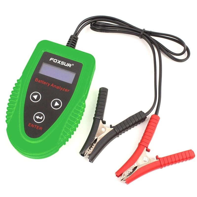Foxsur 12V Car Battery Detector Lcd Battery Analyzer Car Charge Diagnostic Tool Wet Ca Sla Battery
