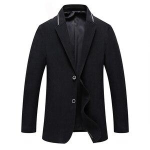 2019 Winter Wool Jacket Men's High-quality Wool Coat Fashion Casual Business Men Trench Coat Jacket Men Overcoat Outwear XXXL