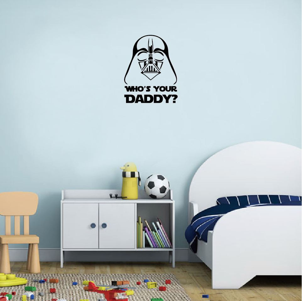 Classic film star wars darth vader whos your daddy wall sticker aeproducttsubject amipublicfo Choice Image