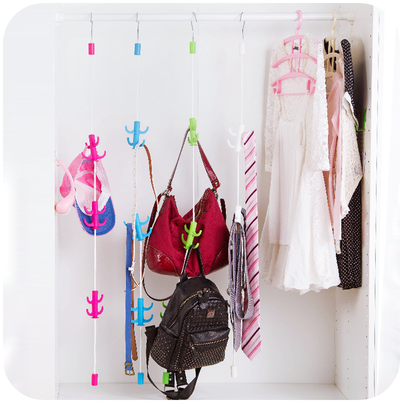 Multipurpose Handbag Storage Hanger Strip 360 Rota.