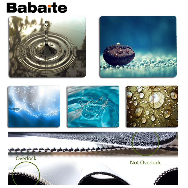 Babaite 2018 New Drop of water Computer Gaming Mousemats Size for 180x220x2mm and 250x290x2mm Small Mousepad