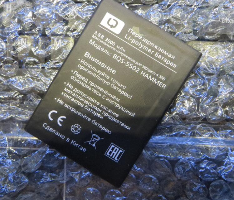 Для BQS <font><b>5502</b></font> аккумулятор BQS-<font><b>5502</b></font> молоток батареи 3000 мАч мобильный телефон литий-ионный Батарея Замена