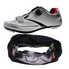 купить Women Men Road Cycling Shoes Biking Spin Indoor Cycling Compatible SPD /SPD SL Cleats Shoe with Breathable Sun Block Face Mask дешево