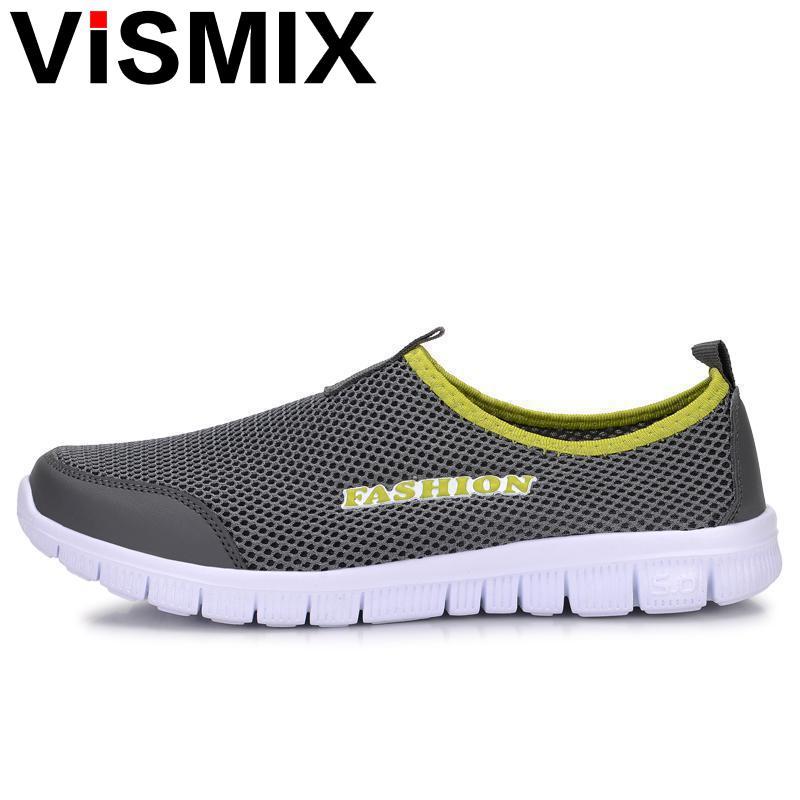 VISMIX Hommes Chaussures De Mode 2017 D'été Confortable Hommes Casual Chaussures Mesh Respirant Plat Chaussures Pas Cher Chaussures Plus La Taille 34-46