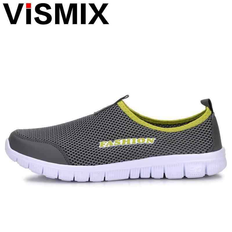 d298c63758f1 VISMIX Men Shoes Fashion 2017 Summer Comfortable Men Casual Shoes Mesh  Breathable Flat Shoes Cheap Shoes