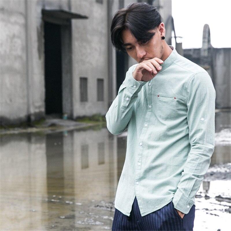 ICPANS Linen Cotton Casual Shirt Men Long Sleeve White Blue Chemise Homme Slim Fit Plus Size M XXXL 4XL 5XL 2019 Summer Autumn in Casual Shirts from Men 39 s Clothing