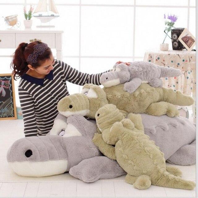 Cuddly 60cm-200cm Real Life Cockerel  Stuffed Plush Crocodile Large Doll Toy Soft Pillow Christmas Valentine's Day Birthday Gift