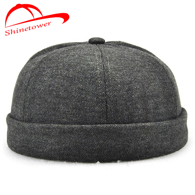 Shinetower  High Quality No Brim Cap Hats Baseball Cap Women Men Fedora Hat  Hip hop 0da0136adaa