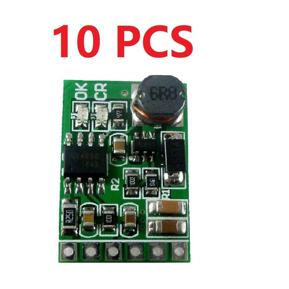 10*3.7V 4.2V Charger & 5V 6V 9V 12V Discharger Board DC DC Converter Boost Module for diy UPS mobile power 18650 lithium battery-in Inverters & Converters from Home Improvement    1