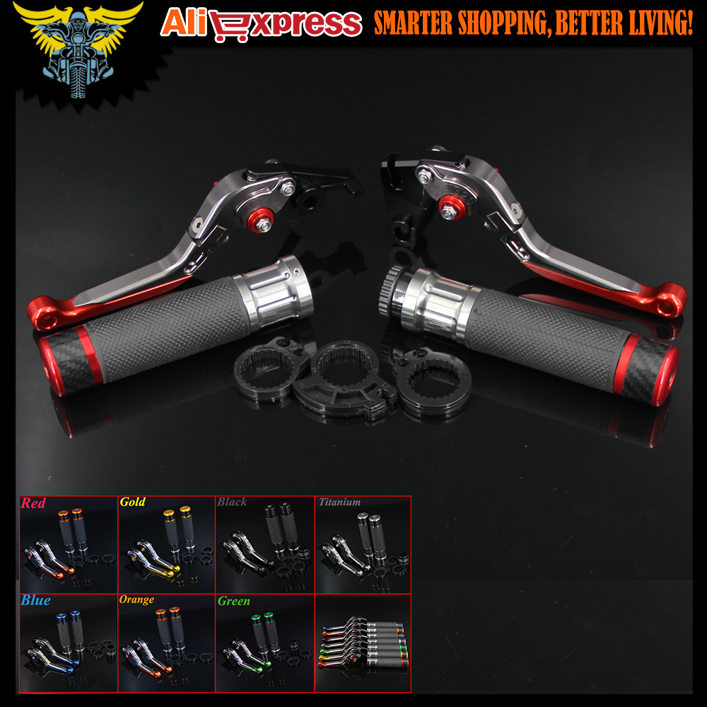 цена на 7 Colors CNC Motorcycle Brake Clutch Levers and Handlebar Hand Grips For Ducati 796 696 MONSTER HYPERMOTARD 1100/S/EVO SP