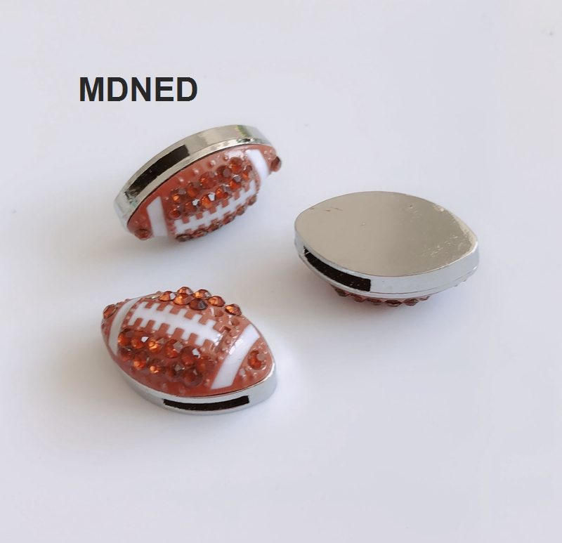5PCS 8MM Full Rhinestone Football Slide Charms Letters DIY Accessory Fit  8mm Wristband Pet Dog Collars Strips Keychain-in Charms from Jewelry    Accessories ... ad097a228183