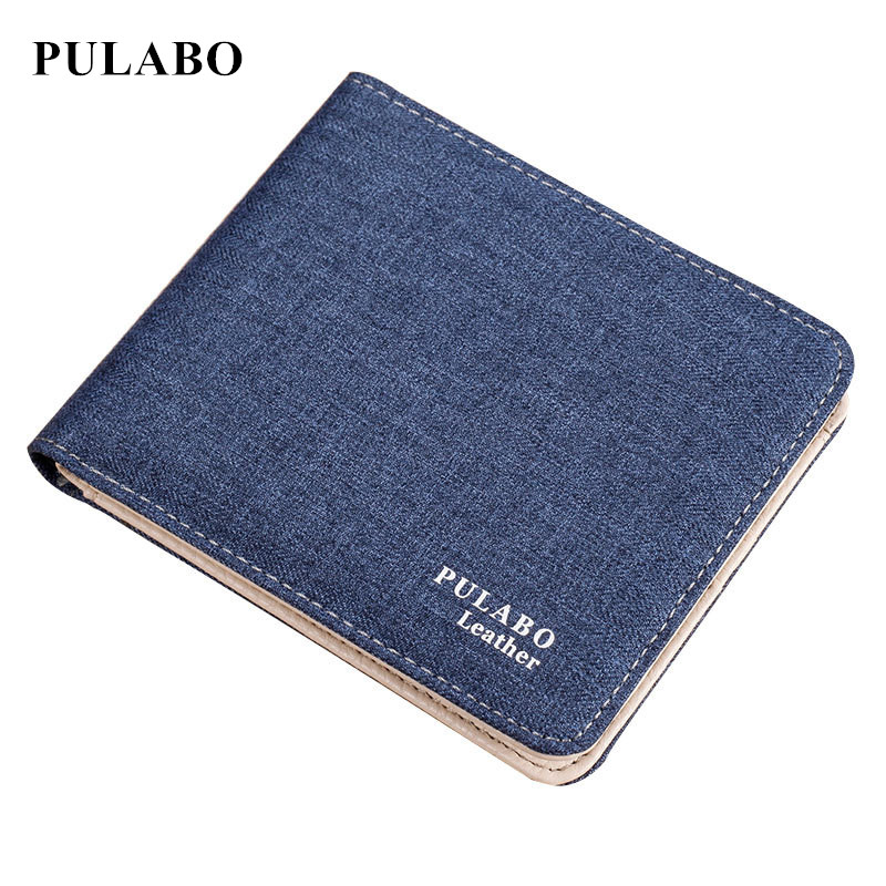 Hot Sale Fashion Men Wallets Quality Soft Linen Design Wallet with coin bag Casual Short Style canvas Credit Card Holder Purse