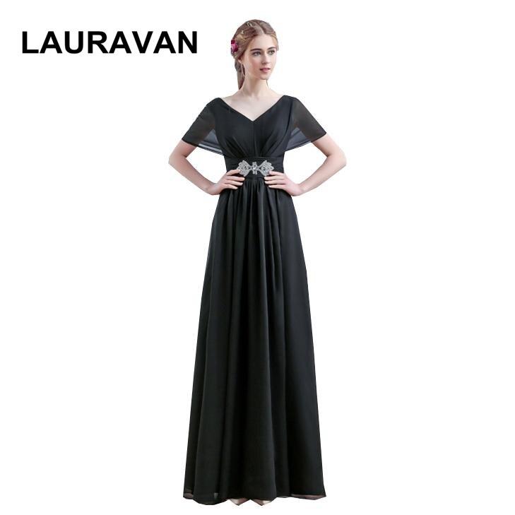 Cap manches longues femmes modernes noir vin rouge mère de la mariée robes en mousseline de soie longue col en v ligne robes de fantaisie