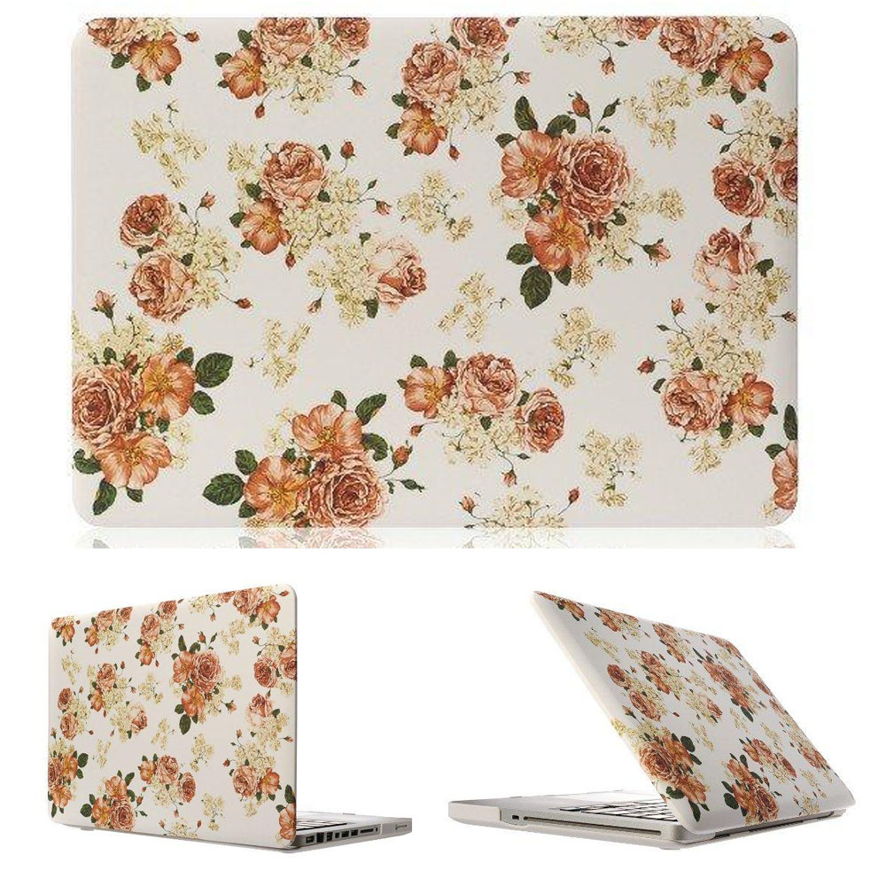 Flower Water stick Rubberized Hard Cover Case For apple Macbook Air 11 13 Pro 13 15 pro 13 3 15 4 Retina Retina 12 laptop case in Laptop Bags Cases from Computer Office