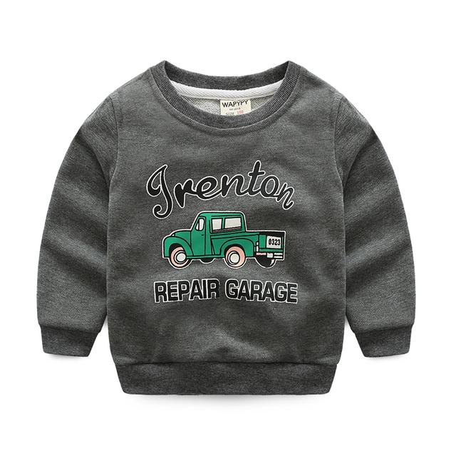 Meninos miúdo camisolas esportes bebê outerwear roupa dos miúdos dos desenhos animados pulôver de todos os coincidir com top primavera e no outono