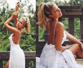 Simple Bohemia Beach Wedding Dresses Lace Appliqued Sweetheart with Spaghetti Straps Sleeveless Split Bridal Gowns Custom