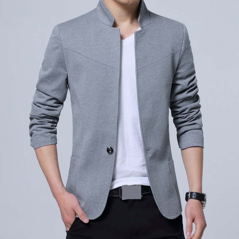 MRMT 2019 Brand New Men's Vertical Collar Suit Leisure Youth Overcoat for Male Single Buckle Suit Outer Wear Clothing Garment