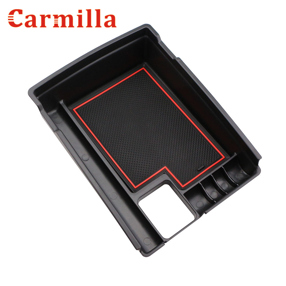 Carmilla Central Storage Pallet Armrest Container Box Case for Nissan X-trail X Trail X Trail T32 2013 - 2017 Car Accessories for land rover evoque 2009 2013 central storage pallet inside armrest organizer container box