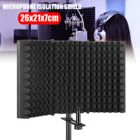 New Studio Microphone Isolation Shield Sound Absorber Recording Foam Panel