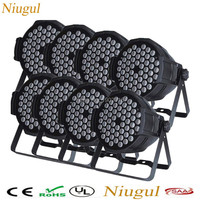 8pcs/lot Hot DMX Led Par 54X3W RGBW Stage Par Light Wash Dimming Strobe Lighting Effect Lights dj disco club light good quality