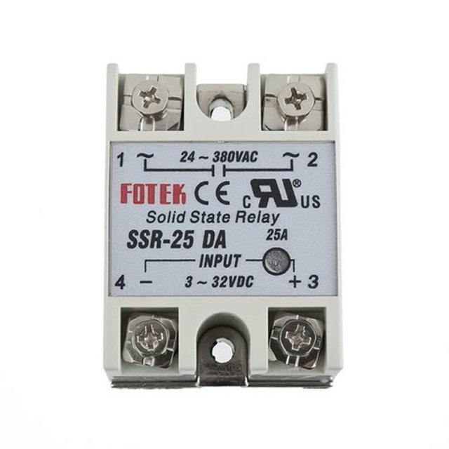 Solid State Relay Module SSR-25DA 25A 250V 3-32V DC Input 24-380VAC Output normally open single phase solid state relay ssr mgr 1 d48120 120a control dc ac 24 480v