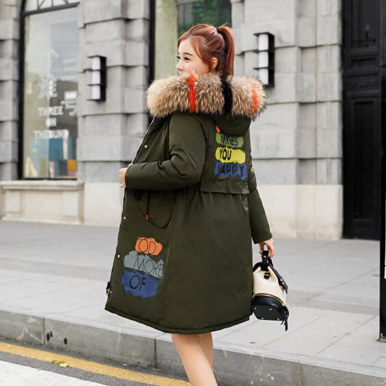 Winter Jacket Women 2018 New Style Thick Outerwear Winter Coat Solid Woman Long Jackets  Fashion Plus Size Parkas