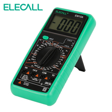 ELECALL Digital Multimeter EM15A 2000 Counts Handheld Customized Multimeter LCD Display AC DC Current Testing