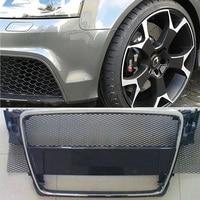 aluminum alloy bumper Aluminum alloy Car front bumper Mesh grill grille cover Universal Aluminum Mesh Grill Section Car Vehicle Black body Grille Net (5)