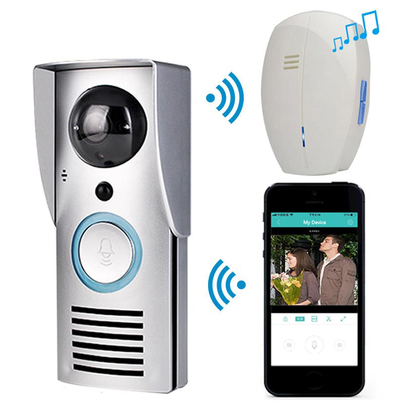 Smart Video Doorbell Intercom WIFI Wireless Door Phone Smart Bell 720P Camera Night Vision PIR Motion Detection Two-way Audio