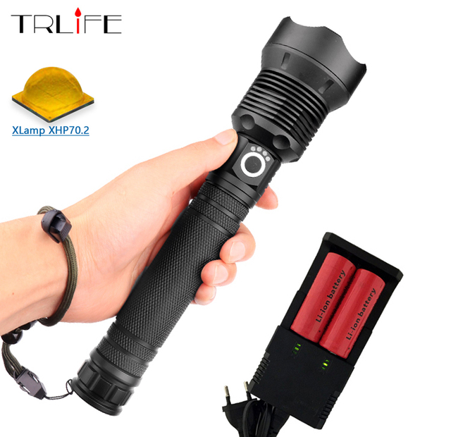 80000 lumens Lamp xhp70.2 most powerful flashlight usb Zoom led torch xhp70 xhp50 18650 or 26650 battery Best camping,outdoor