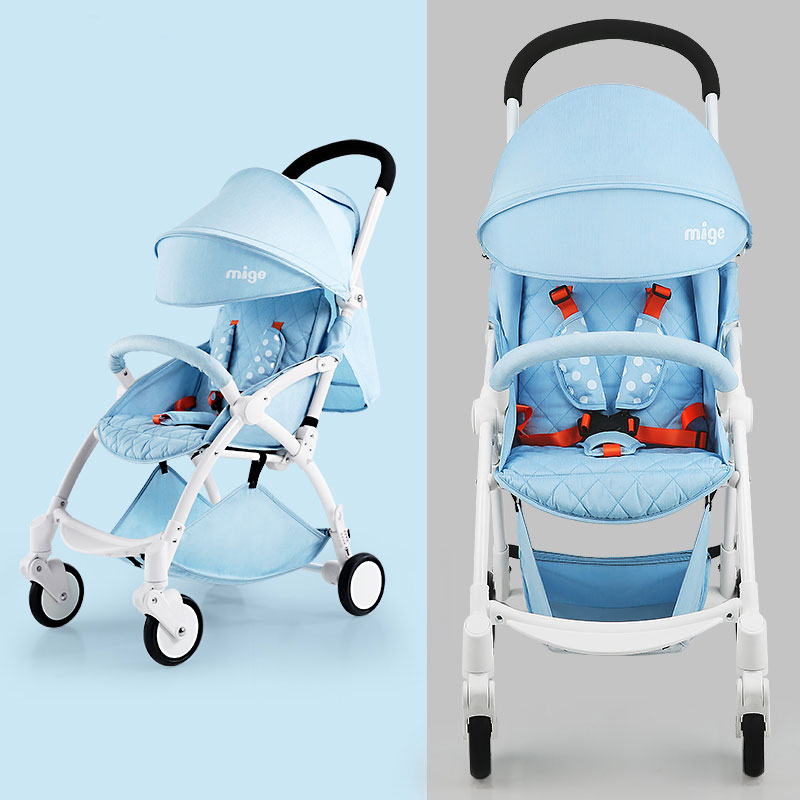 Mige baby stroller umbrella car light folding baby trolley portable baby stroller ultra light portable shock absorbers bb child summer baby hadnd car umbrella