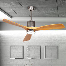 52 Inch Nordic Creative Dinning Room Fan Lamp Restaurant Ceiling Fan Modern Simple Bedroom Living room Fan Lamp Free Shipping(China)