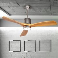 52 Inch Nordic Creative Dinning Room Fan Lamp Restaurant Ceiling Fan Modern Simple Bedroom Living room Fan Lamp Free Shipping
