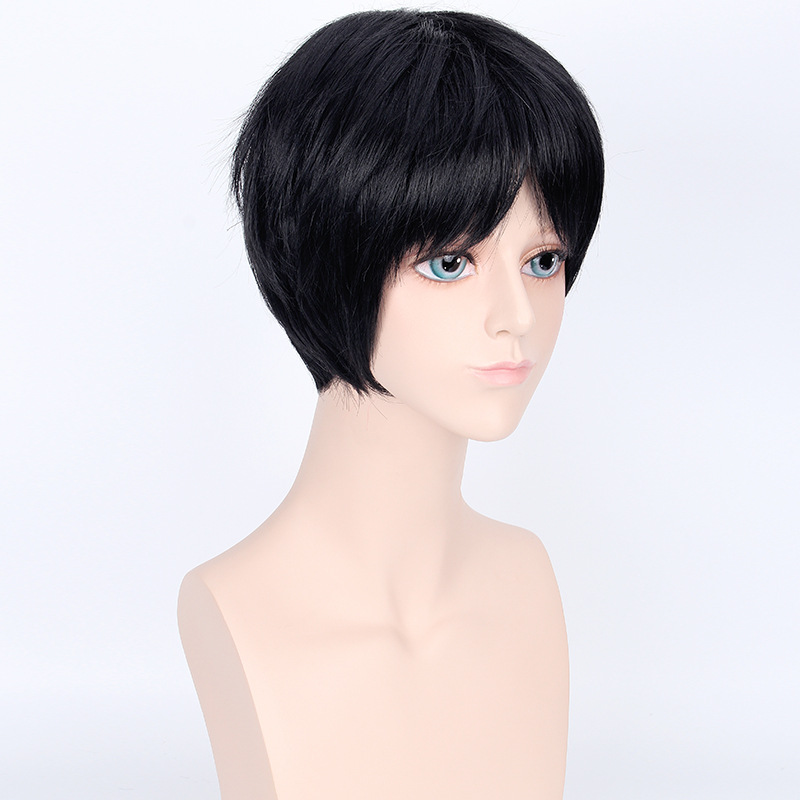 BOOCRE Anime Your Lie in April Cosplay Arima Kousei Wig Costumes Accessories Headwear Black Short Hair