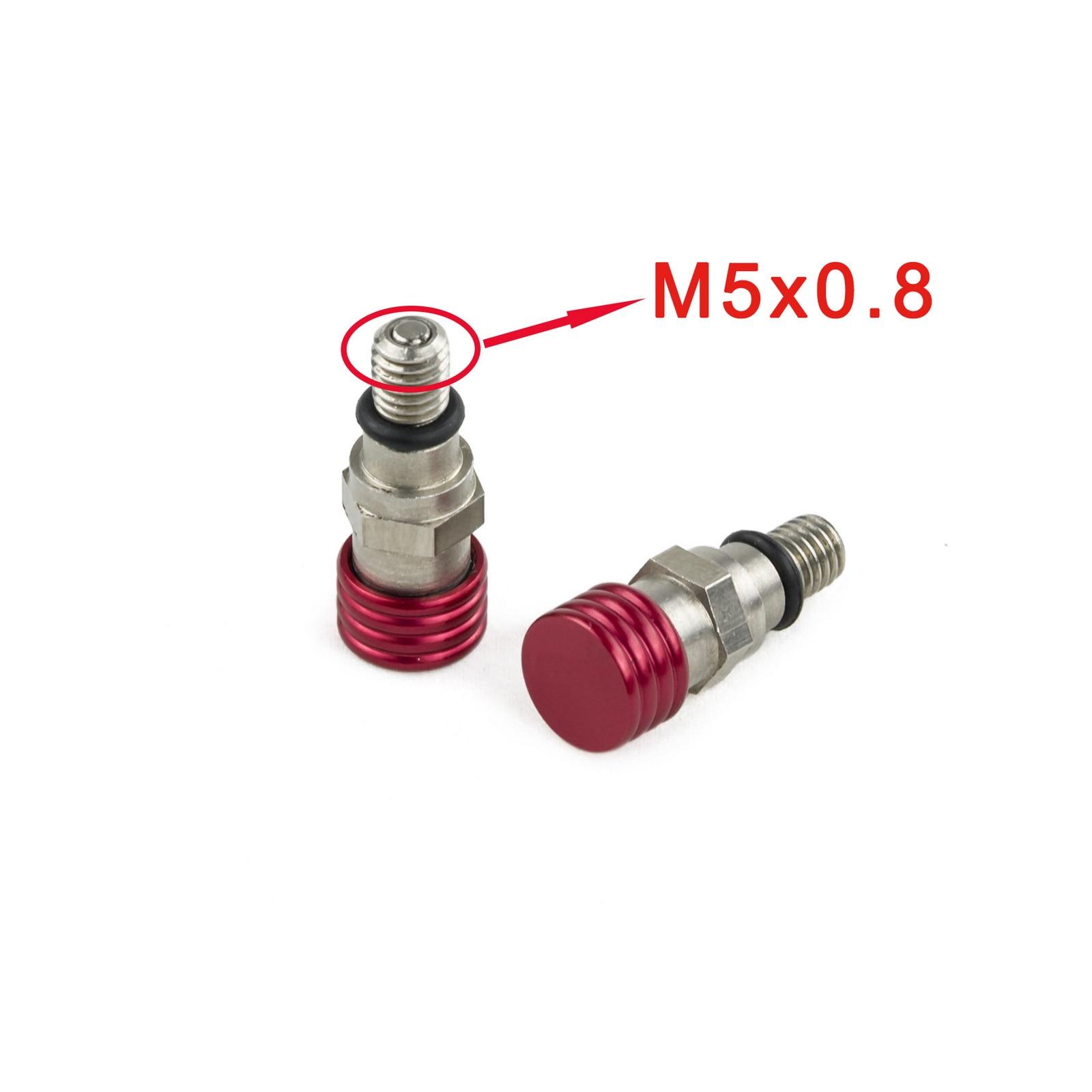 CR85 CR80 Big Wheel M5x0.8 Fork Air Pressure Bleeder Valves CNC For Honda CR80