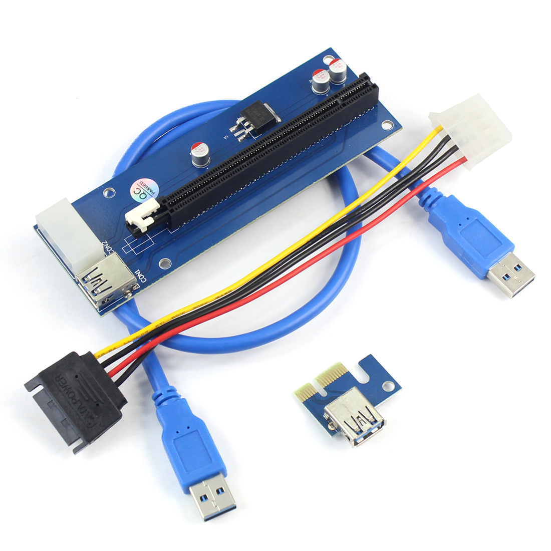 USB 3.0 PCI-E Express 1x to 16x Extender Riser Card Adapter Pcie 1 to 4 USB Convertor Graphics Video card for Miner BTC Litcoin-1