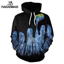 NADANBAO New Style Hiphop Hoodies Sweatshirts Irrigation Forest 3D Printing Autumn Hooded Women Hoodie Bts