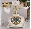 Telefonos fijos de casa фиксированный винтажный Античный стиль Цветочный керамический домашний декор Настольный телефон telefone fixo из смолы