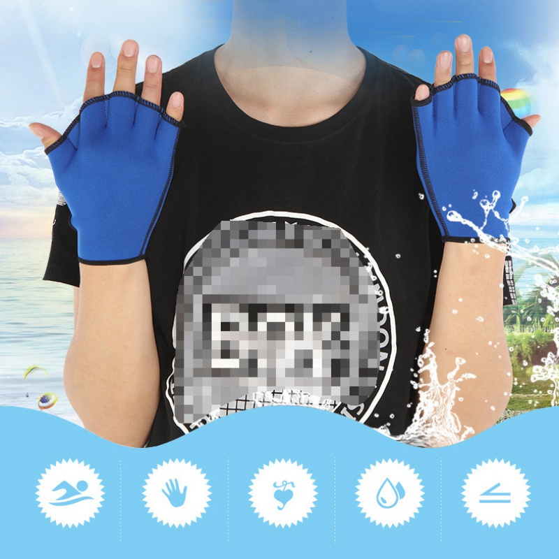 Water Aerobics Jogger Swimming Surfing Diving Webbed Paddle Gloves Swim Training Water Aerobics Resistance Gloves