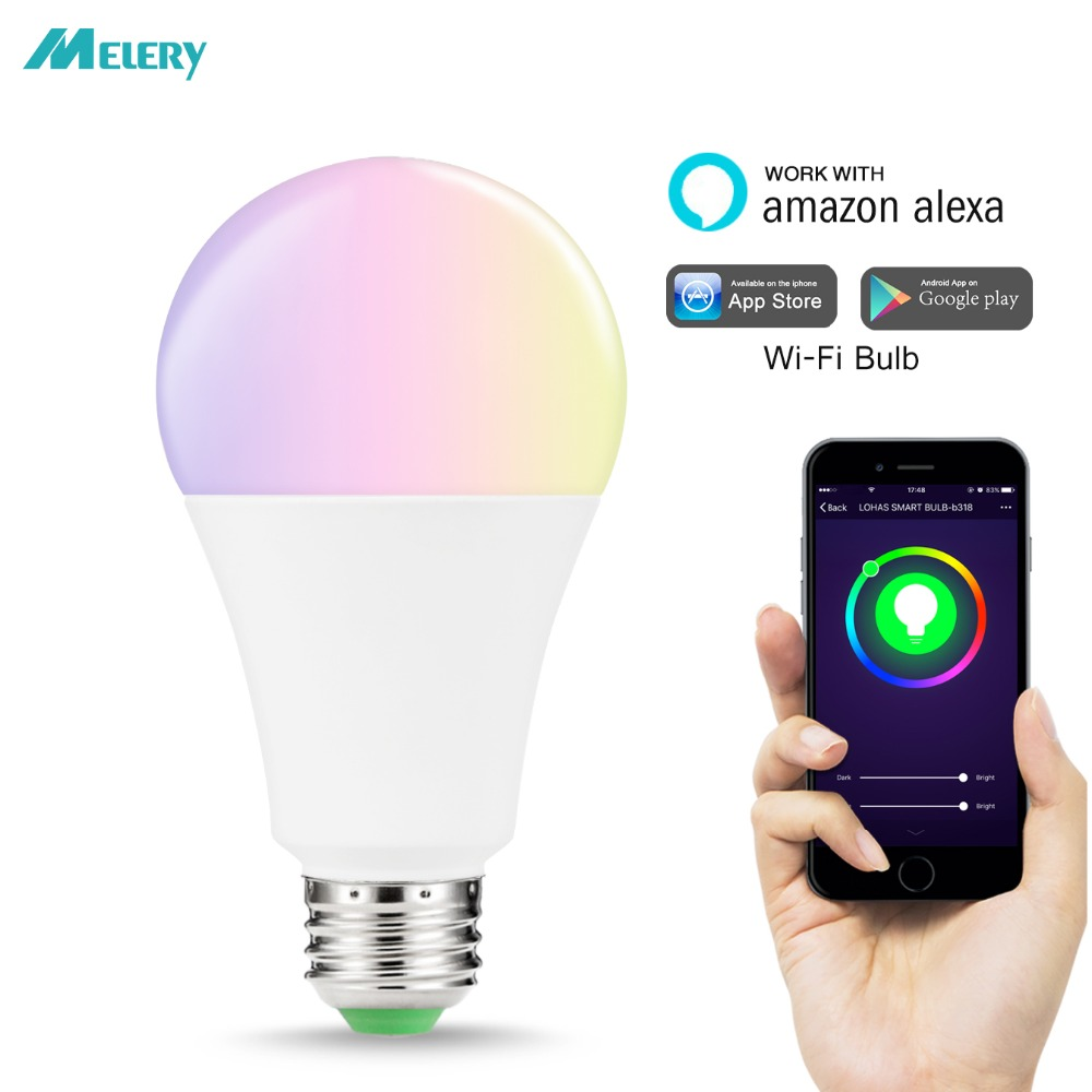 LED Smart Light Bulb A21 WiFi Control Color Changing RGB Multicolor Lighting 100W 150W Equivalent E26 Base Compatible with Alexa