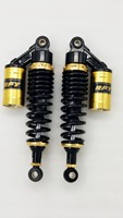 new 8mm spring 1 Pair 300mm 310mm Motorcycle Rear Suspension Shock Absorber FOR HYOSUNG GV650 GV700 YAMAHA XV250 black+gold