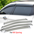 4pcs/lot For KIA Sportage 2011-2015 Car Window Visor Sun Rain Shield Covers Exterior Decoration Auto Accessories