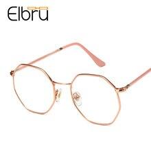 Metal Frame Computer-Glasses Myopia Anti-Blue-Ray Elbru Women Goggles Eyewear Light Blocking