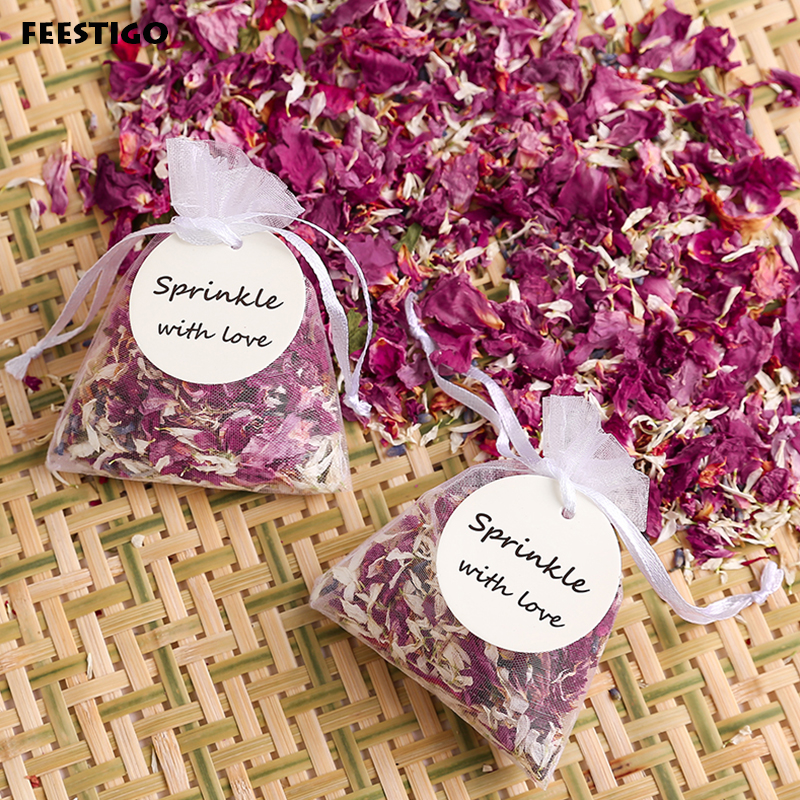 Us 37 72 43 Off Natural Wedding Confetti Dried Flower Petals For Floral Wedding Biodegradable Rose Petal Confetti Wedding And Party Decorations In