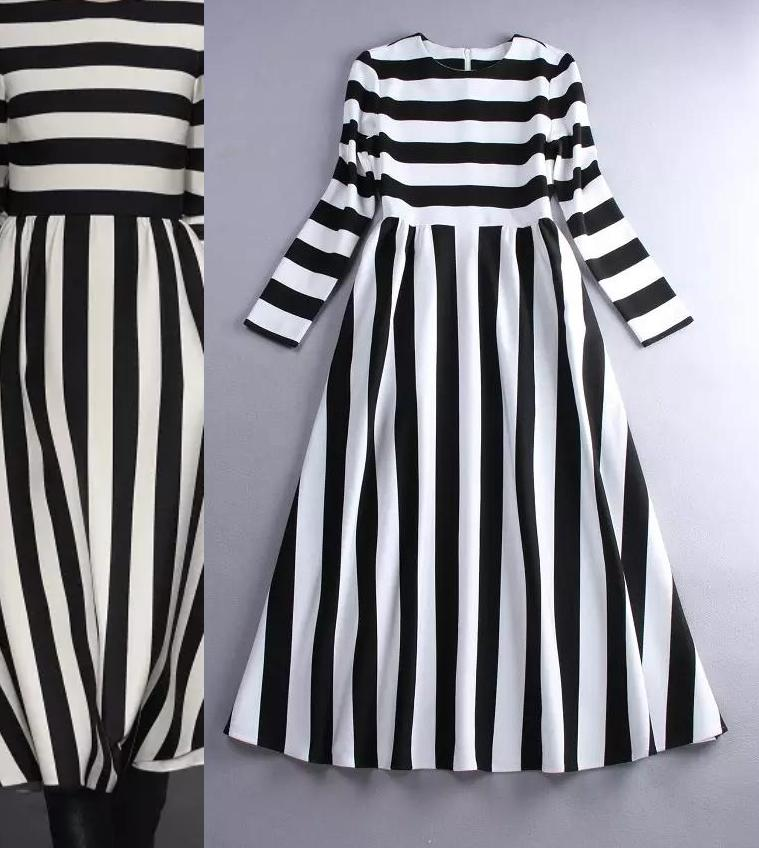Dames 3xs Dress À En Spring Blanc Manches Personnaliser 10xl New Bandes Base De Mousseline Longues Robes Summer Casual Maxi Taille Noir fwCtxq5t7