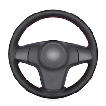 Hand-stitched Black Artificial Leather Anti-slip Soft Car Steering Wheel Cover for Chevrolet Niva 2009-2017 (3-Spoke) mewant black suede genuine leather car steering wheel cover for chevrolet niva 2009 2017 3 spoke